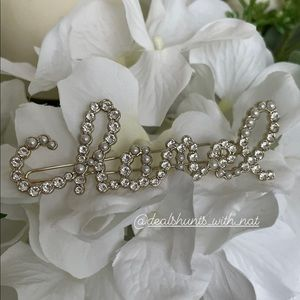 Chanel Spelled Pearls and Crystals Barrette